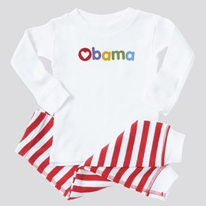 Obama Heart Baby Pajamas