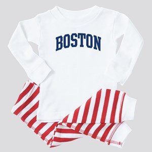 BOSTON design (blue) Baby Pajamas