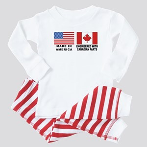 Engineered With Canadian Parts Baby Pajamas
