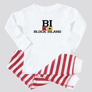 Block Island RI - Nautical Design Baby Pajamas
