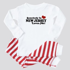 Somebody in New Jersey Loves Me Baby Pajamas
