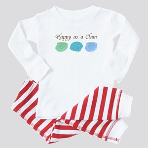 Happy as a Clam Baby Pajamas