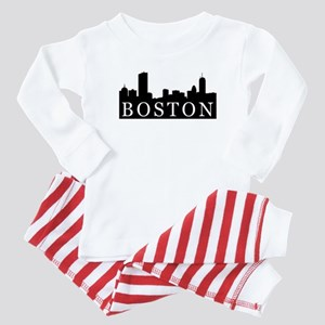 Boston Skyline Baby Pajamas