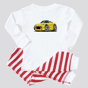 s2000 Yellow Car Baby Pajamas
