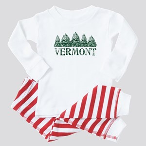 VT Winter Evergreens Baby Pajamas
