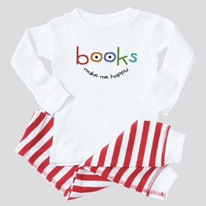 Books Make Me Happy Baby Pajamas