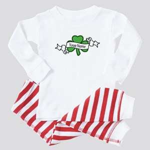 Shamrock CUSTOM TEXT Baby Pajamas