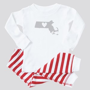 Heart Massachusetts Baby Pajamas