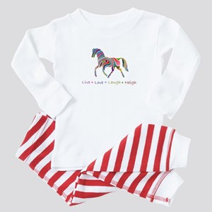 Rainbow pony Baby Pajamas