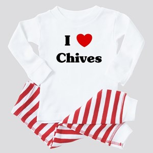 I love Chives Baby Pajamas