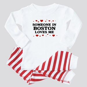 Loves Me in Boston Baby Pajamas