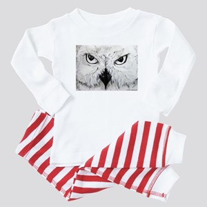 Owl! Wildlife, bird art! Baby Pajamas