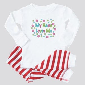 My Nana Loves Me Girl Design Baby Pajamas