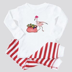 pink flamingo Christmas gift design Pajamas