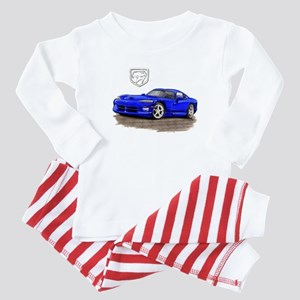 Viper Blue Car Baby Pajamas