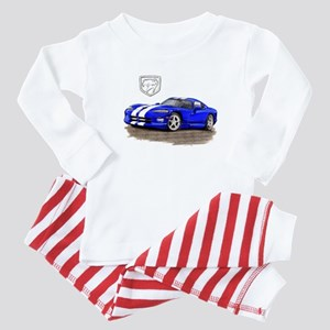 Viper Blue/White Car Baby Pajamas