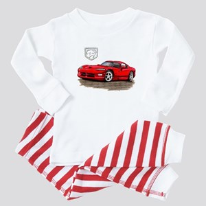 Viper Red Car Baby Pajamas