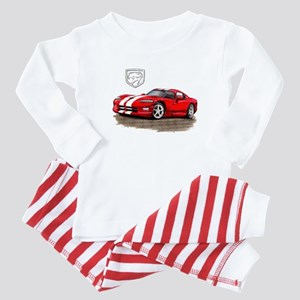 Viper Red/White Car Baby Pajamas