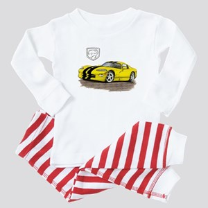 Viper Yellow/Black Car Baby Pajamas