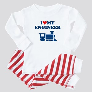 ENGINEER SHIRT I LOVE MY ENGI Baby Pajamas