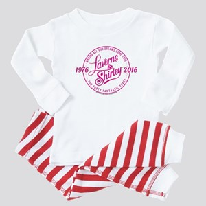 Laverne And Shirley Logo Design Baby Pajamas
