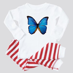 Animals Blue Butterfly Baby Pajamas