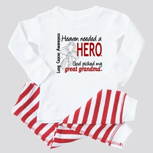 Heaven Needed a Hero Lung Cancer Baby Pajamas