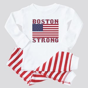 BOSTON STRONG U.S. Flag Baby Pajamas