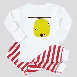 Beehive with 3 busy bees Baby Pajamas