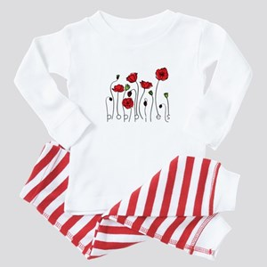 Poppies Baby Pajamas