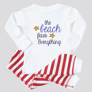 The Beach Fixes Everything Baby Pajamas