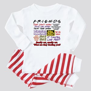 Friends Quotes Baby Pajamas
