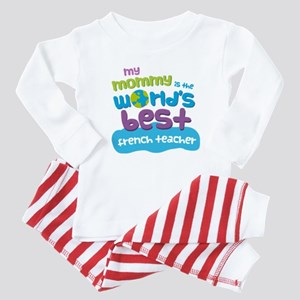 French Teacher Gift for Kids Baby Pajamas