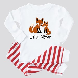Little Sister - Fox Baby Pajamas