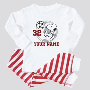 Snoopy Soccer - Personalized Baby Pajamas