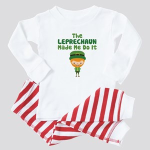 Leprechaun Made Me Baby Pajamas