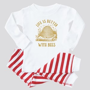 Life's Better With Bees Baby Pajamas