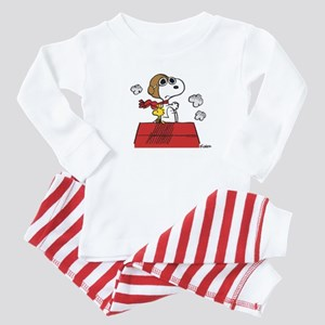 Peanuts Flying Ace Personalized Dark Baby Pajamas