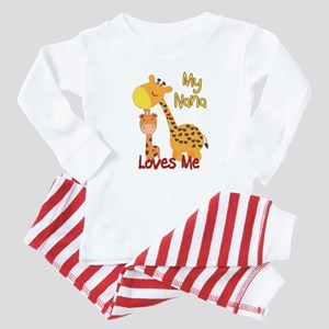 My Nana Loves Me Giraffe Baby Pajamas