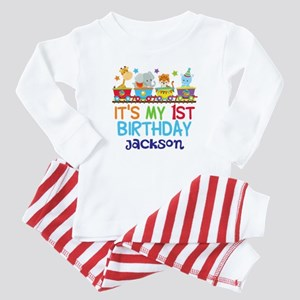Circus Animal 1st Birthday Baby Pajamas