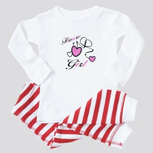 Pink Hearts Flower Girl Baby Clothes