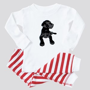 Black Lab Baby Pajamas