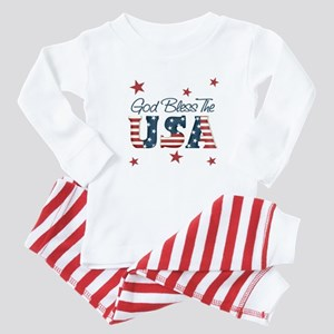 God Bless The U.S.A. Baby Pajamas