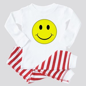 Classic Smiley Face Baby Pajamas