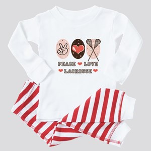 Peace Love Lacrosse Baby Pajamas
