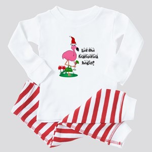 Christmas flamingo Baby Pajamas