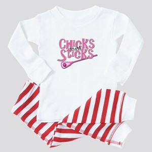 Lacrosse Chicks with Sticks Baby Pajamas