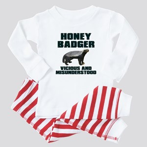 Honey Badger Vicious & Misunderstood Baby Pajamas