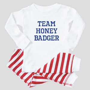 Team Honey Badger Baby Pajamas