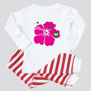 Hawaii Islands & Hibiscus Baby Pajamas